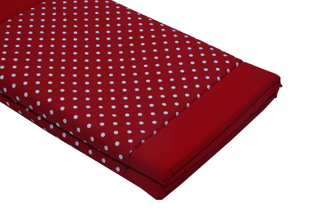 Foam Bed -Polka Dots Red