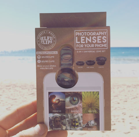 Universal 3 in 1 Lens Set - Fisheye, Macro and Wide Angle