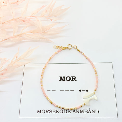To the moon and back exclusive - morsekode armbånd med valgfrit ord