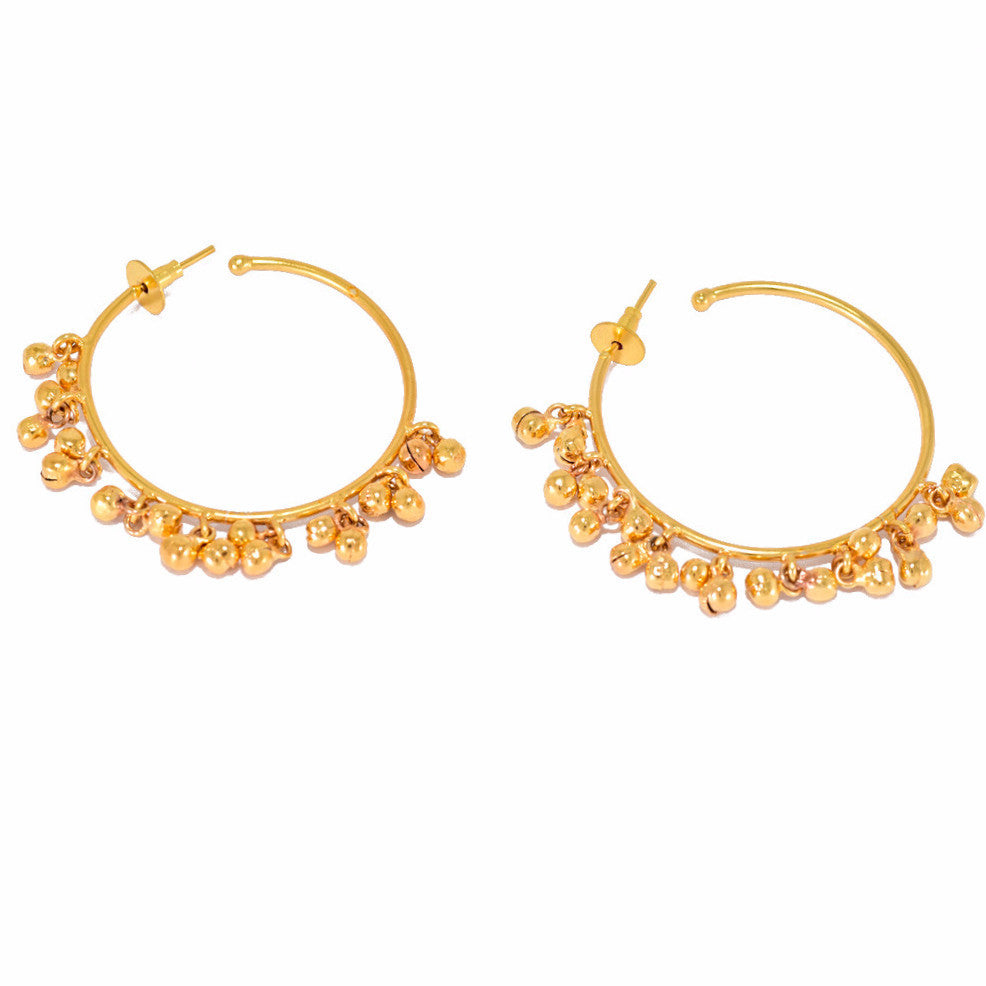Gold Plated Ghungroo Earrings - mrinalinichandra - 2