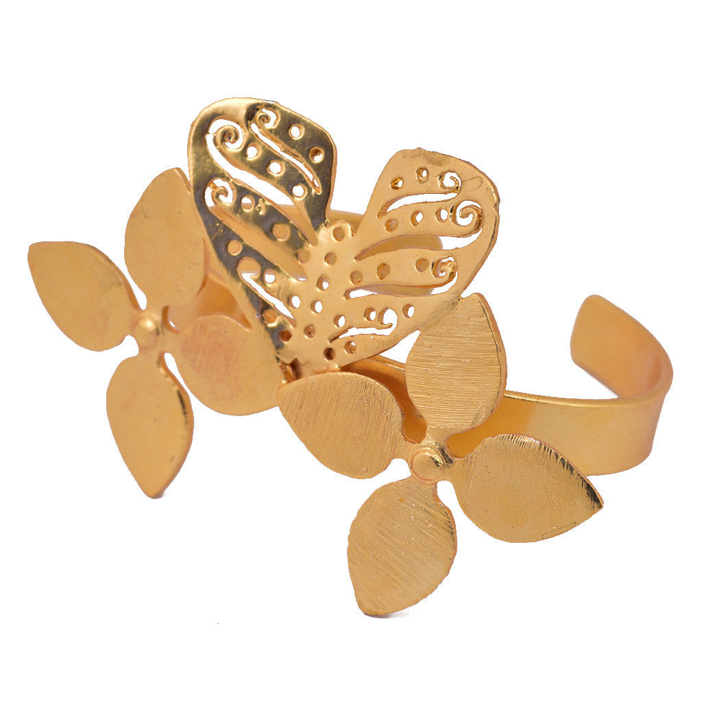 Gold Plated Butterfly Bangle - mrinalinichandra - 6