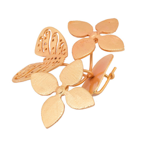 Shakuntala Butterfly Flower Brooches - mrinalinichandra - 1