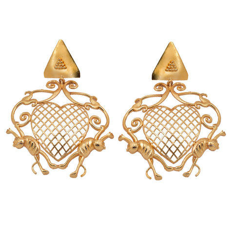 Shakuntala Flower Butterfly Earring- Vertical