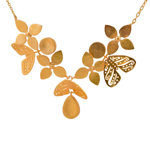 Shakuntala Butterfly Flower Necklace - mrinalinichandra - 1