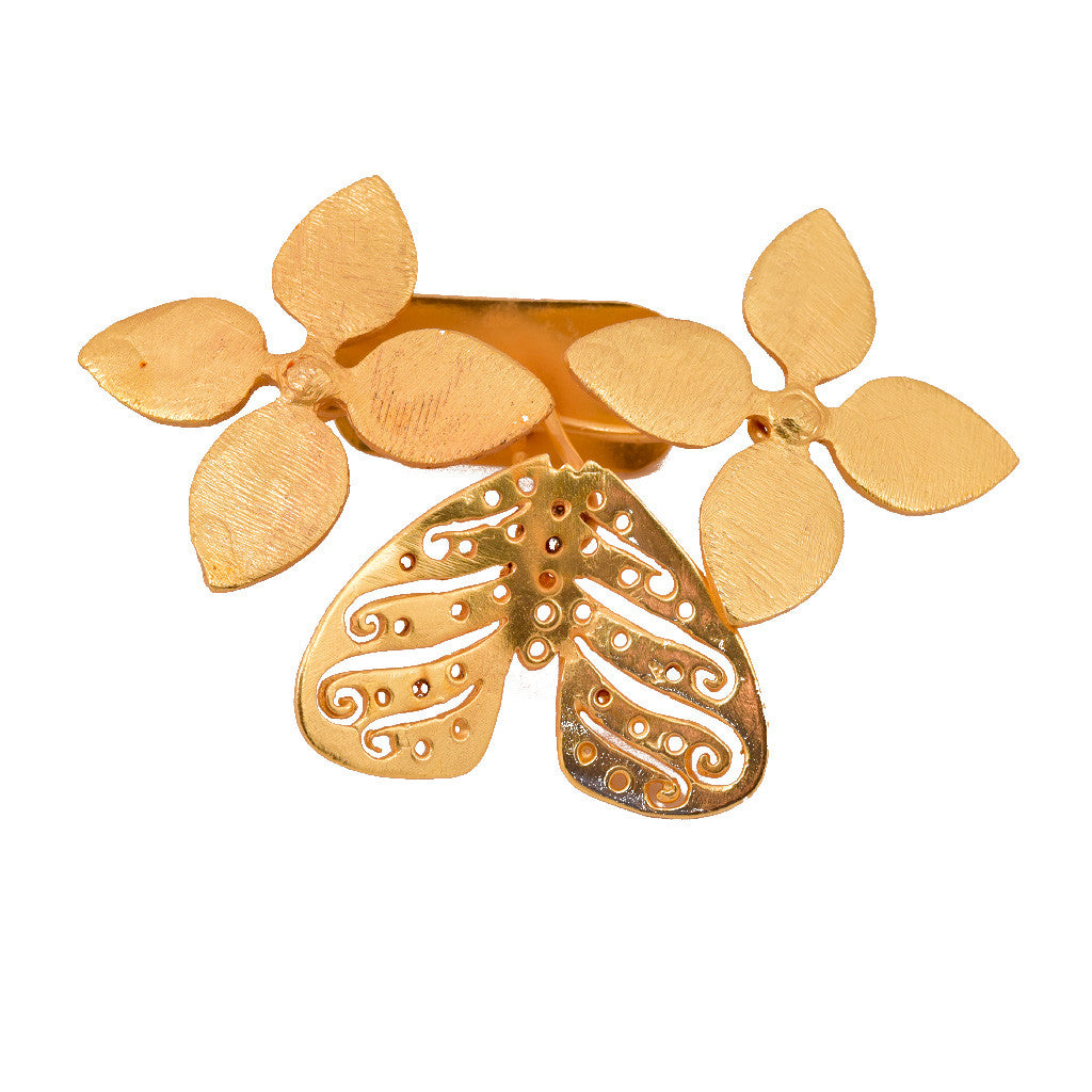 Shakuntala Butterfly Flower Brooches - mrinalinichandra - 2