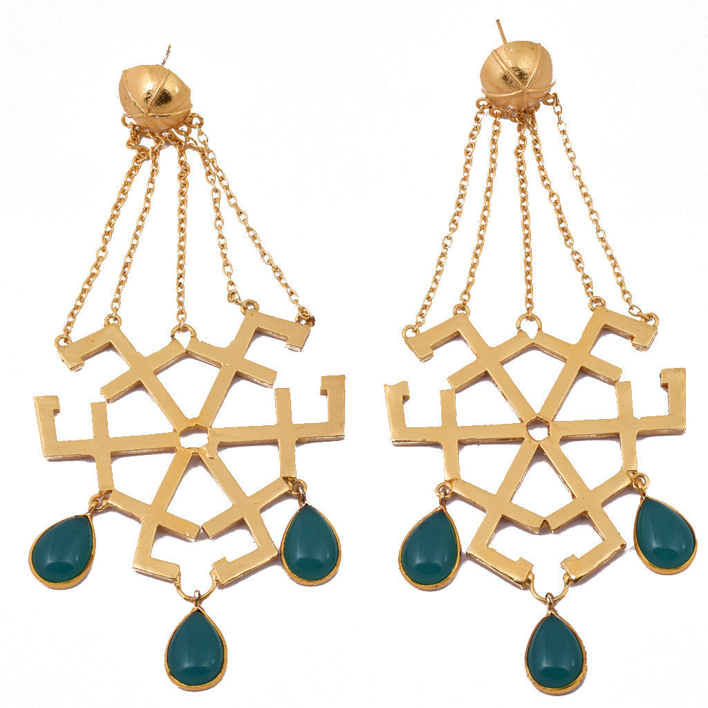 Mathematics Number 7 Inspired Earring - mrinalinichandra - 1