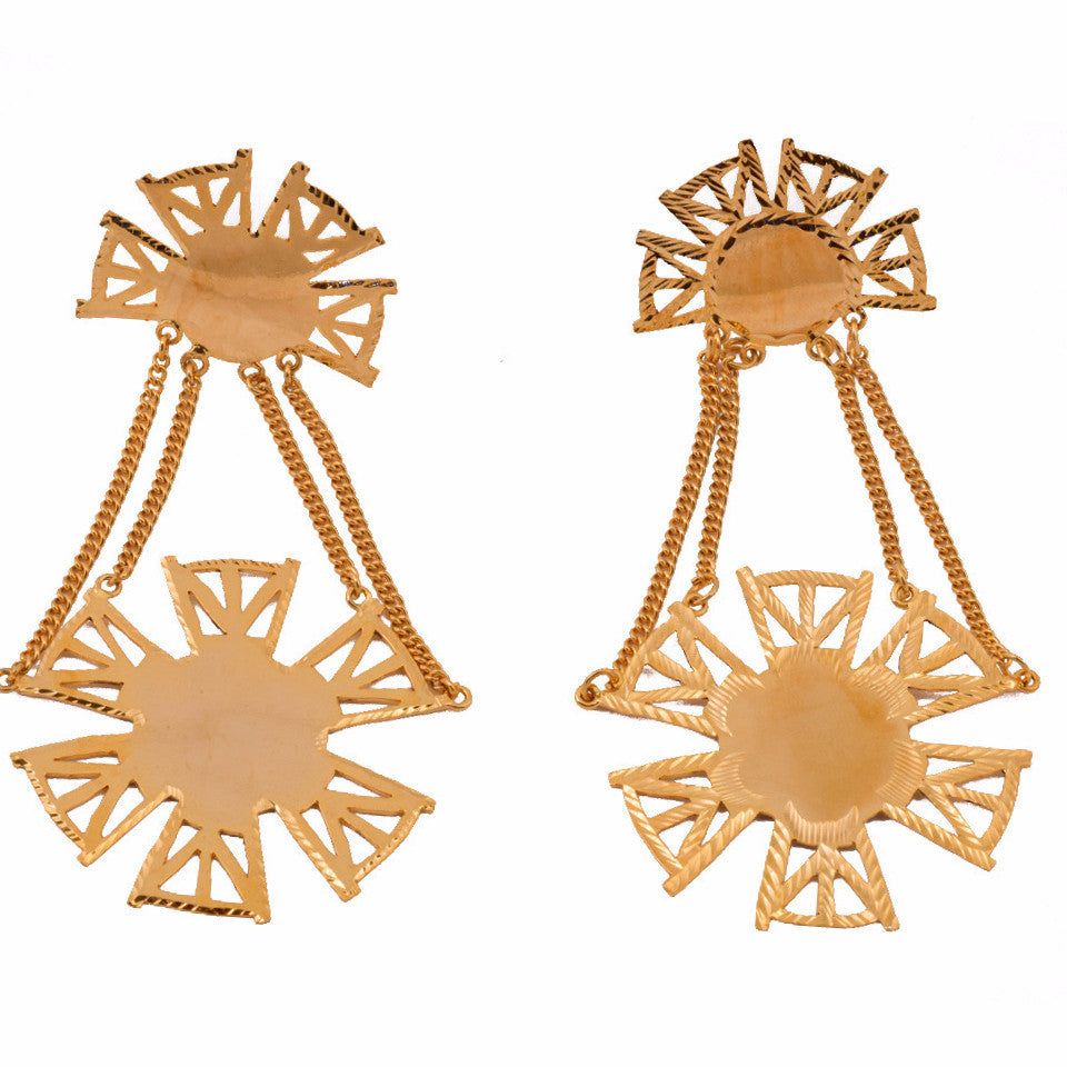 Chair Back inspired Earrings - mrinalinichandra - 1