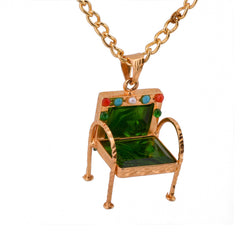 Please Have a Seat Chair Necklace - Green - mrinalinichandra - 8