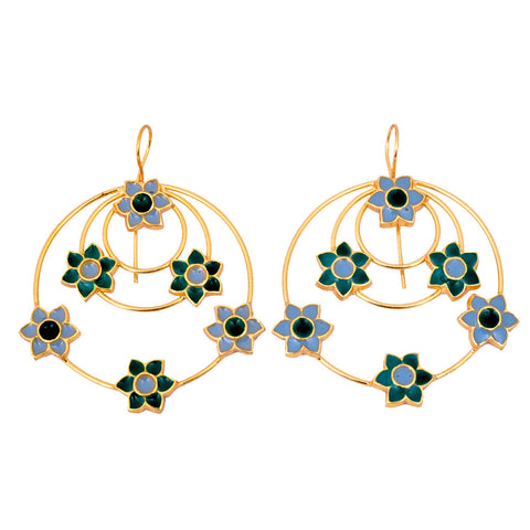Mathematics Compass Dream Catcher Earrings