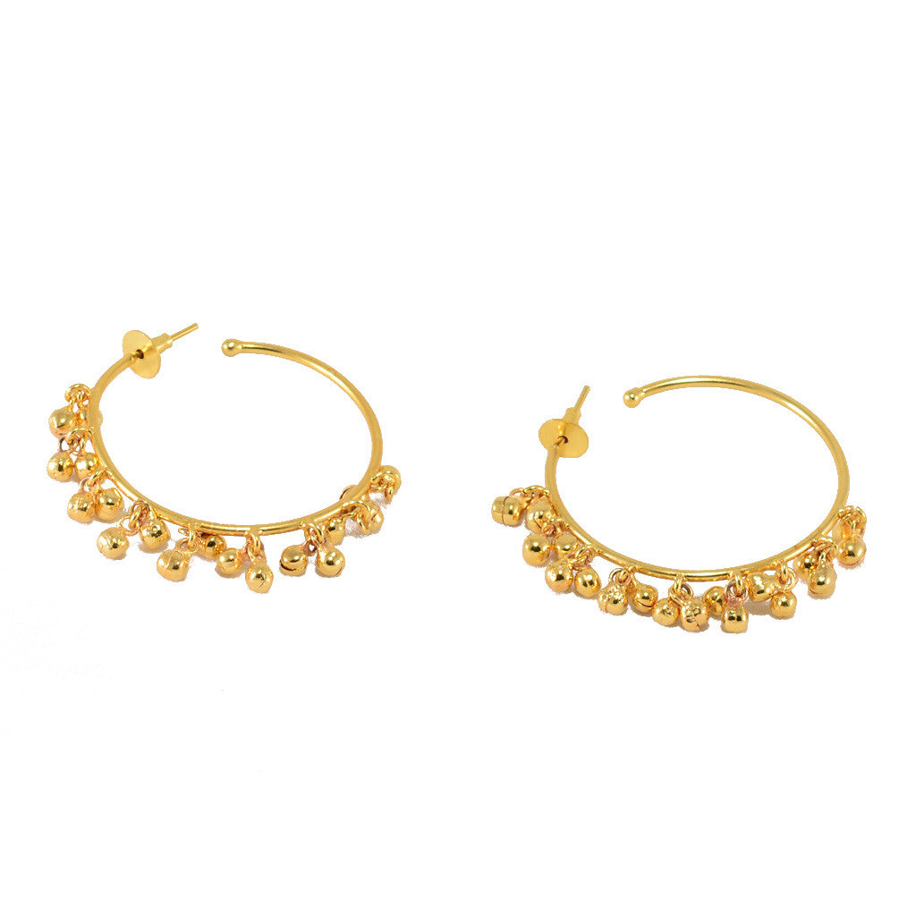 Gold Plated Ghungroo Earrings - mrinalinichandra - 4