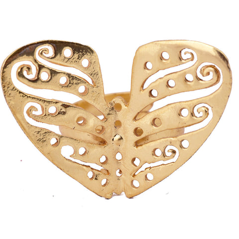 Shakuntala Gold Butterfly Ring - mrinalinichandra - 1
