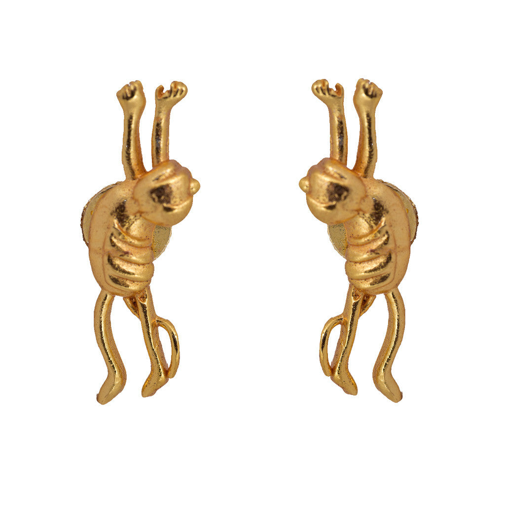 Shakuntala  Playful Monkey Studs