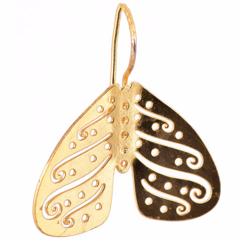Shakuntala Inverted Butterfly Earrings - mrinalinichandra - 1