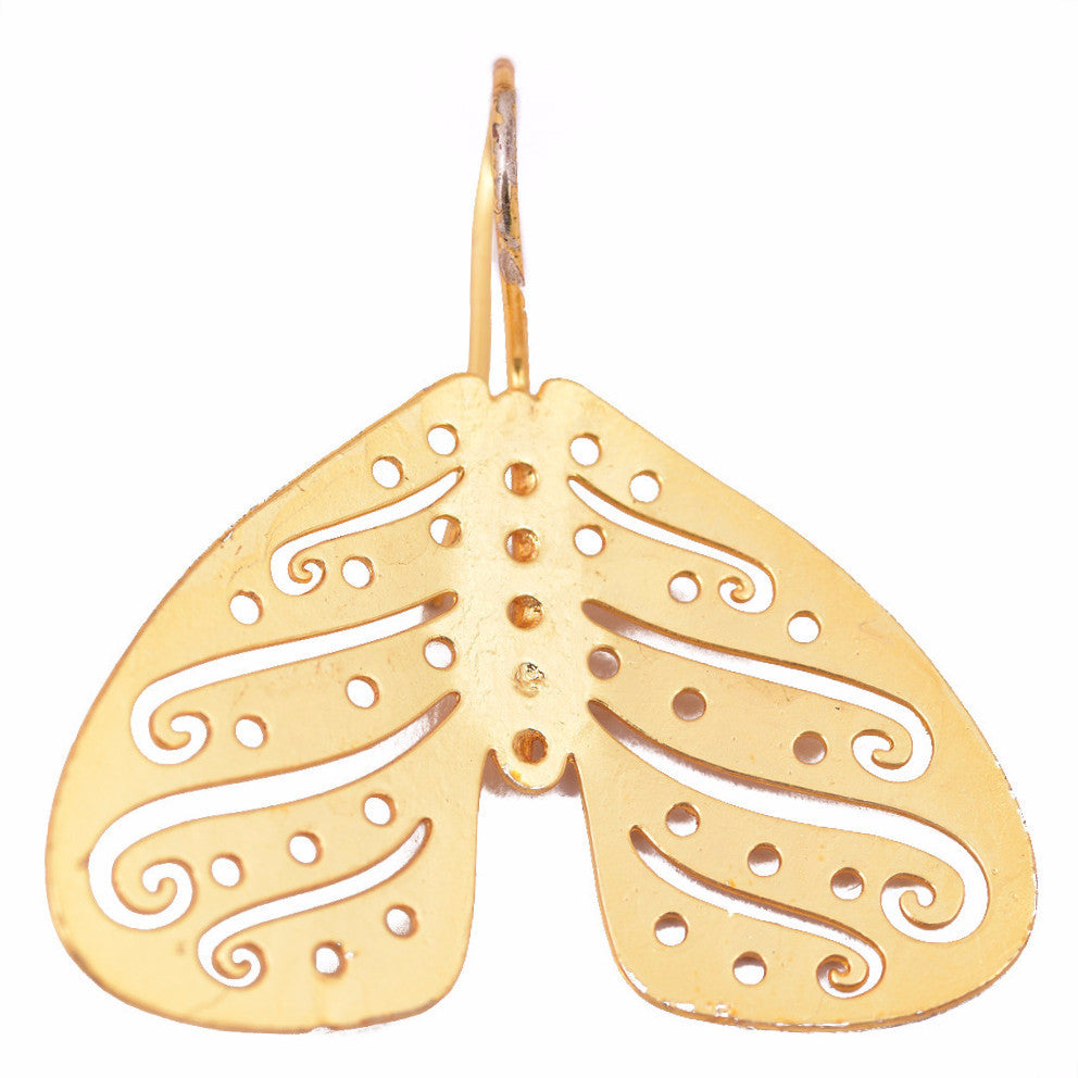 Shakuntala Inverted Butterfly Earrings - mrinalinichandra - 2