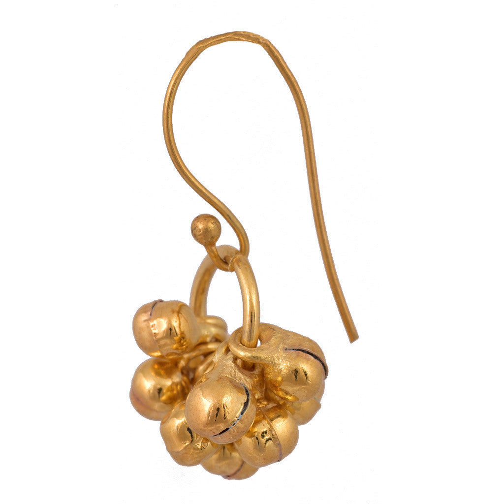 Small Ghungroo Cluster Earring - mrinalinichandra - 2