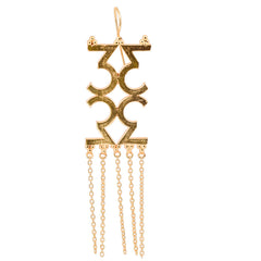 Mathematics Number 3 Earring - mrinalinichandra - 1