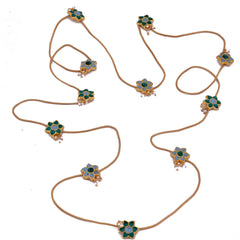 Meenakari Flower Necklace - mrinalinichandra - 1