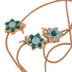 Meenakari Flower Necklace - mrinalinichandra - 2
