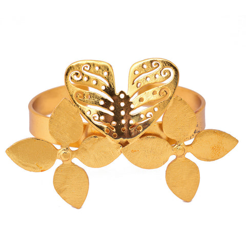 Gold Plated Butterfly Bangle - mrinalinichandra - 1