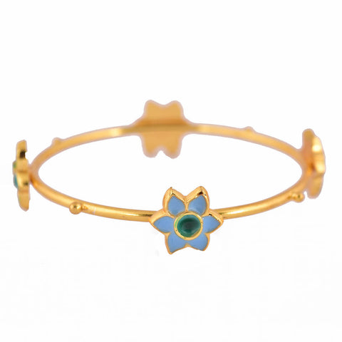 Phiroza Enamel Firangi Paani Multiple Motif Bangle