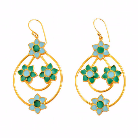 Phiroza Enamel Firangi Paani Earrings
