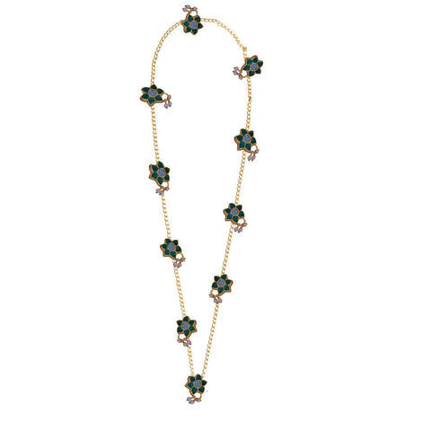 Meenakari Flower Necklace