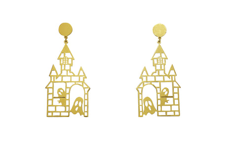 The Hanging Ghost House Earring