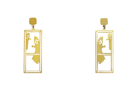 Gold Plated Ghungroo Earrings
