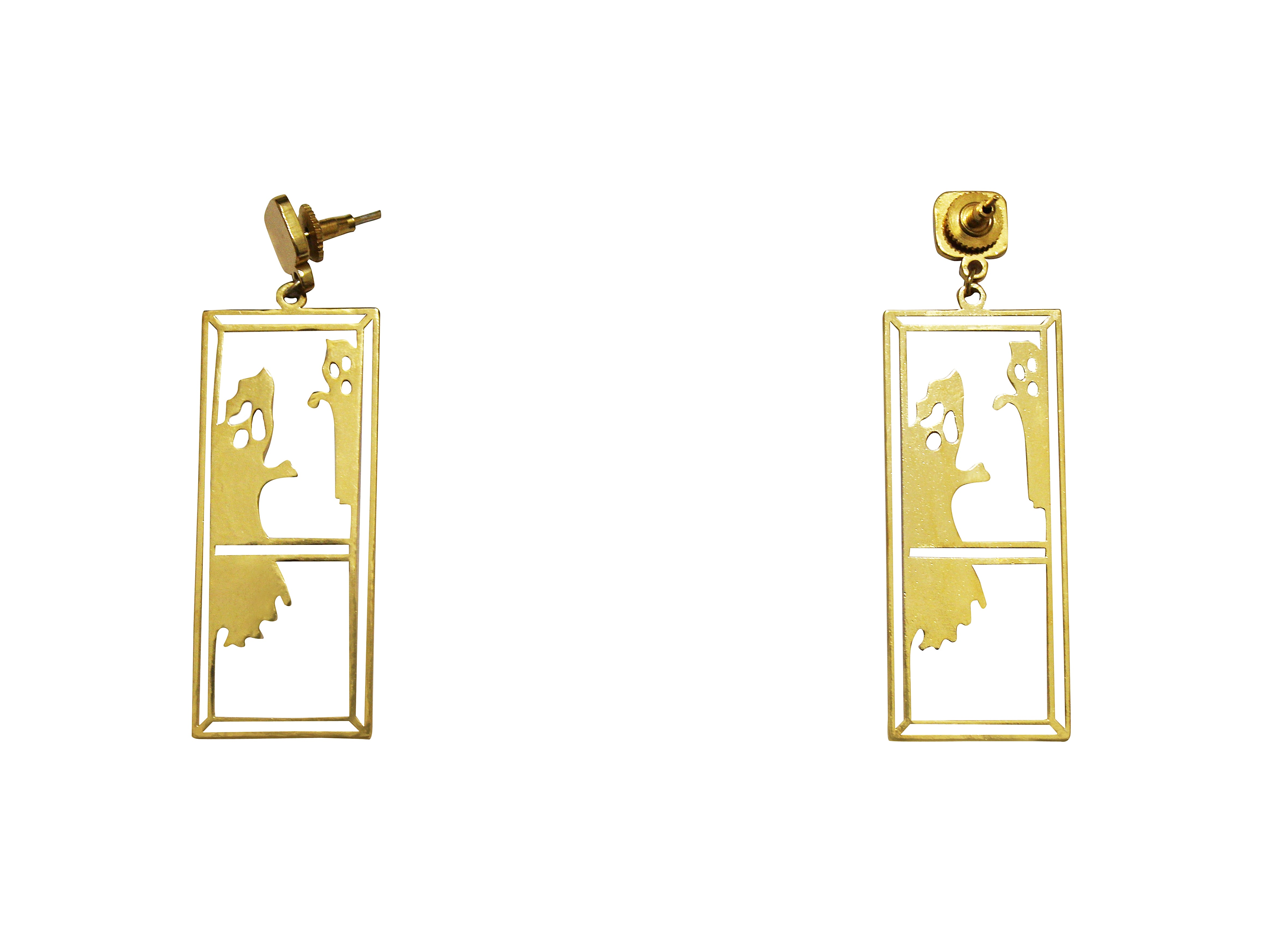 earrings disney product info gold the hr more chip from white couture plated an ghost stud beast beauty ts