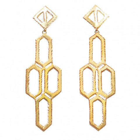 Please Have A Seat Triangular Dangling Chair Earrings