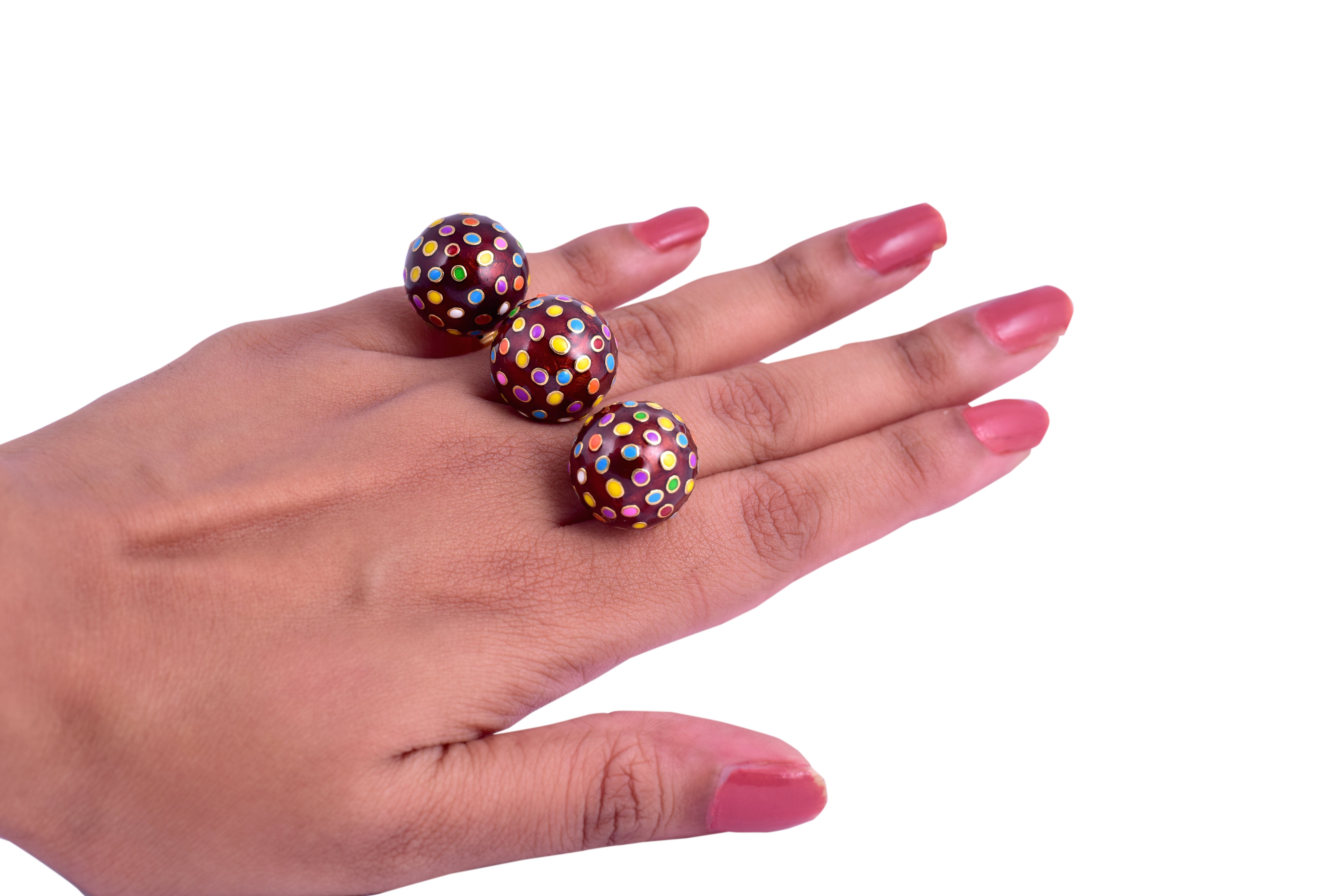 Color Bomb Double Finger Ring