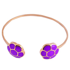 Purple Cluster Open Bangle