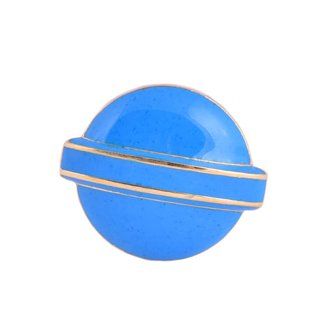 Blue Lollipop Head Candy Ring