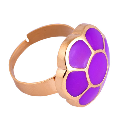 Purple Cluster Candy Ring