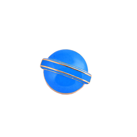 Blue Lollipop Head Brooch Pin