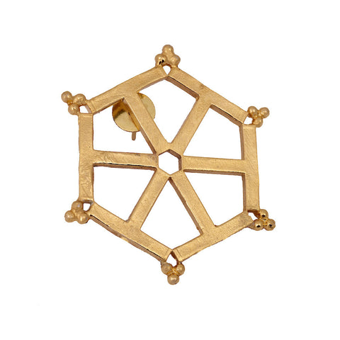 Mathematics Number Four Wheel Drop Brooch