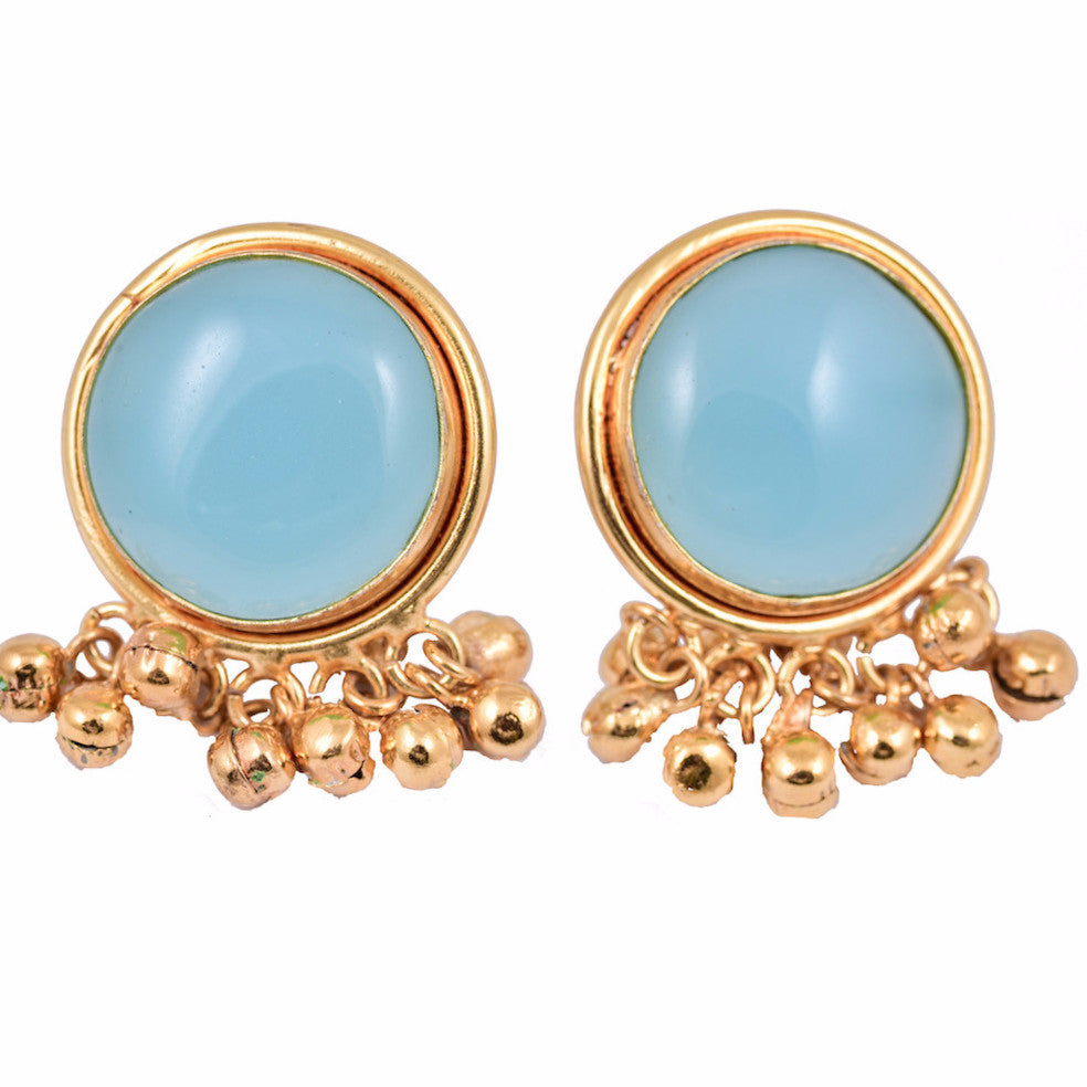 mauli zoom earrings online gemstone pearl drop polki danglers buy designs designers blue stone shree creation