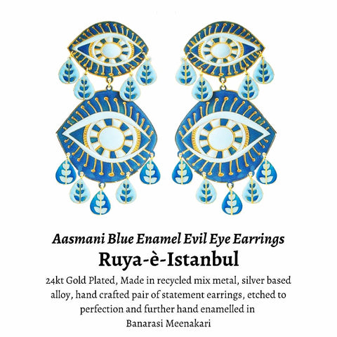 Evil Eye Enamel Earrings
