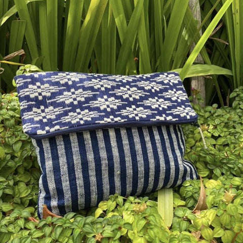 Indigo Dyed Clutch
