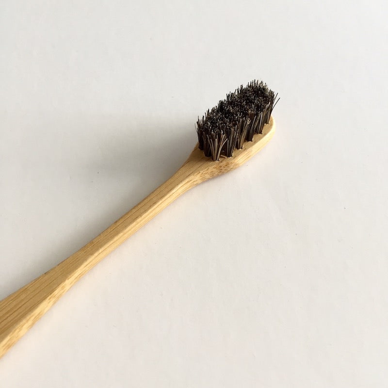 Bamboo Toothbrush (Brown Horse Hair) 竹牙刷