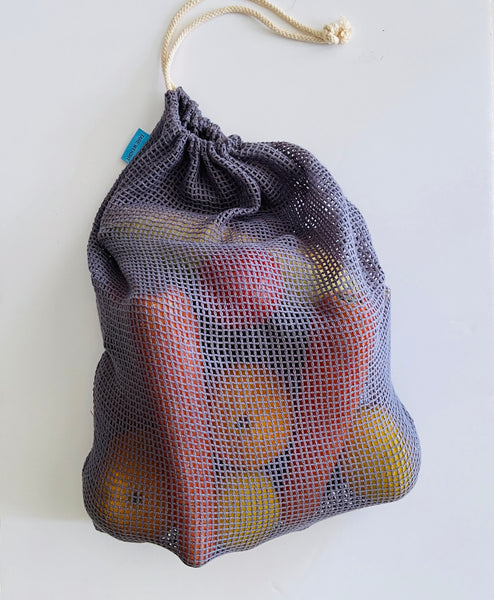 Cotton Mesh Bags (Grey, Set of 3)