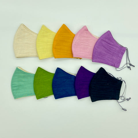 Ultra Soft Hand Dyed Cotton Gauze Mask