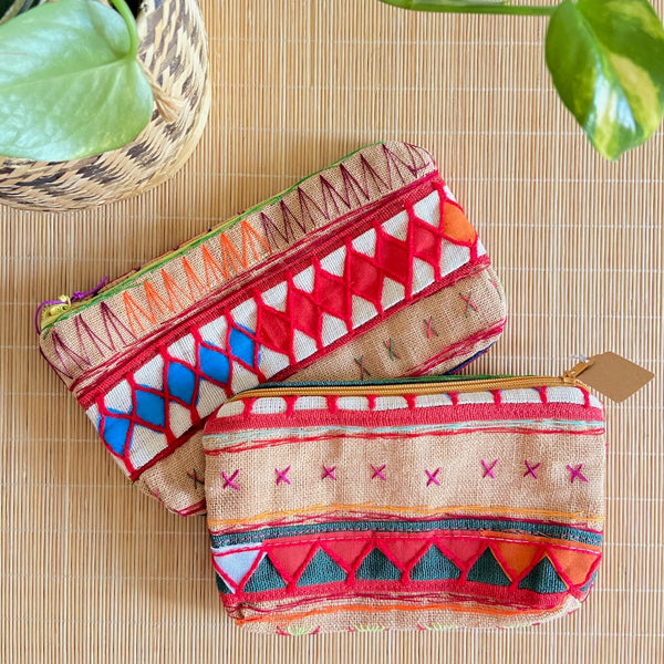 Hmong Embroidery Textile Pouch (M)