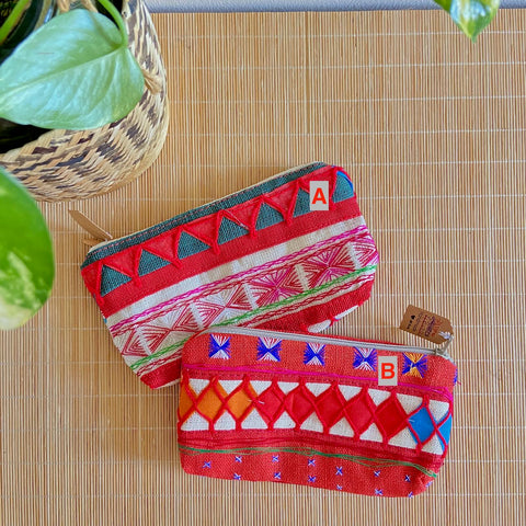 Hmong Embroidery Textile Pouch (S)