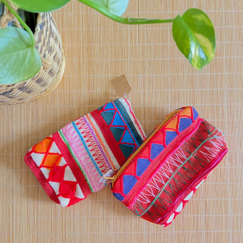 Hmong Embroidery Textile Pouch (XS)