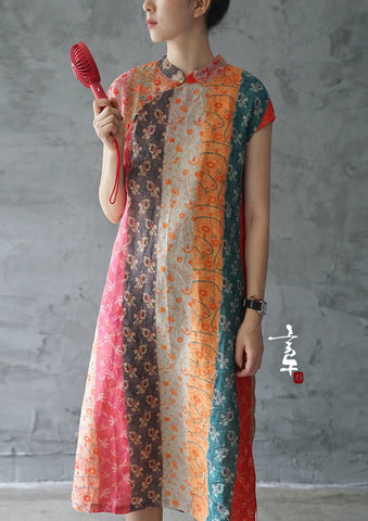 Multi Color Cheongsam Dress