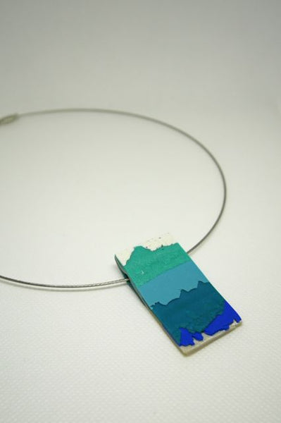 Embracing Imperfection - Pendant Blue