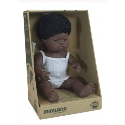 Miniland Anatomically Correct African Boy - Pretty in Pine