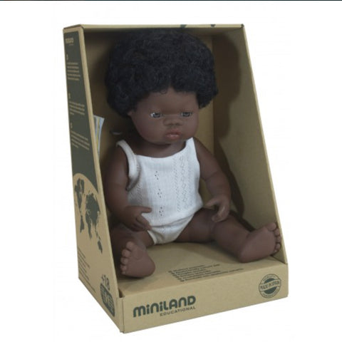 Miniland Anatomically Correct African Girl - Pretty in Pine