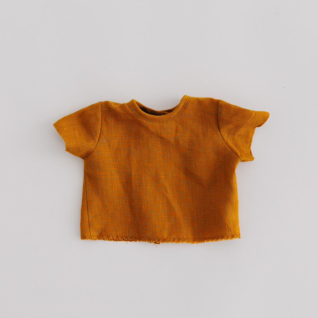 Mustard Linen Dolls Shirt - Pretty in Pine